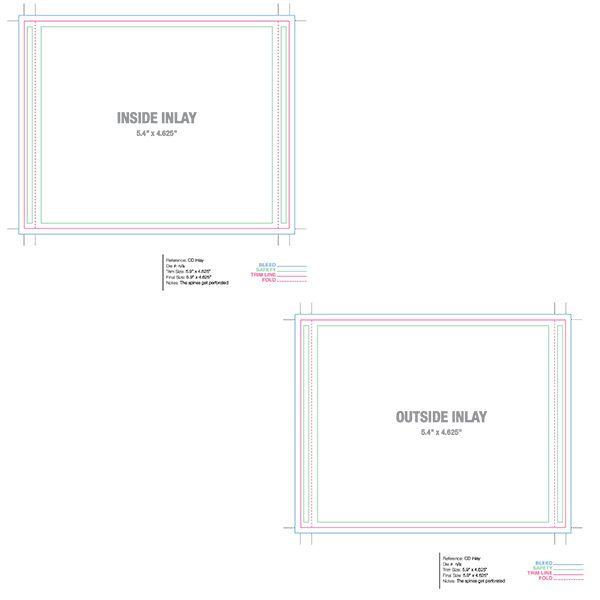 jewel case inlay template disc templates