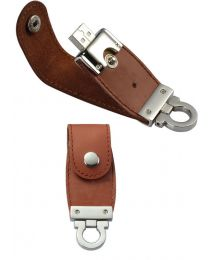 1GB Brown Custom Leather USB Drive
