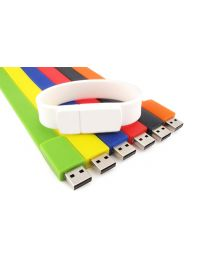 1GB Blue Custom Wristband USB Drive