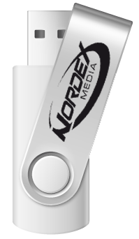 Nordex Silver Swivel USB