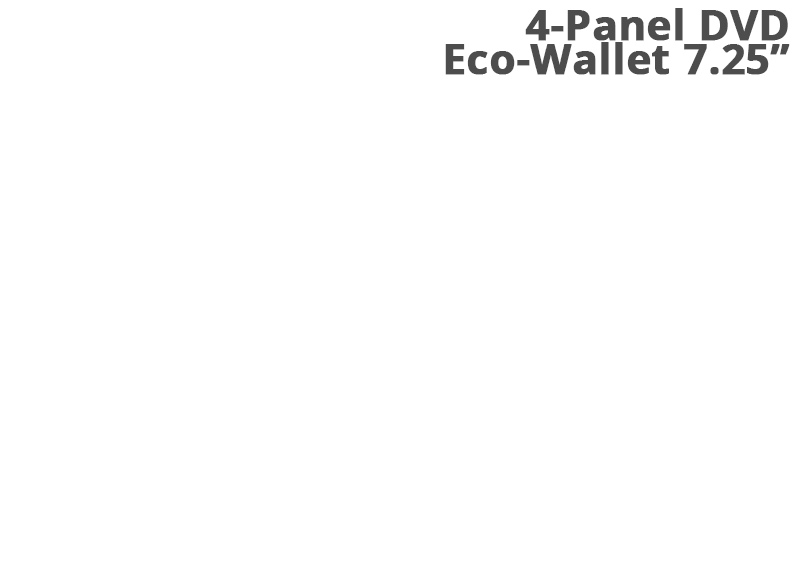 4-Panel DVD Eco-wallet